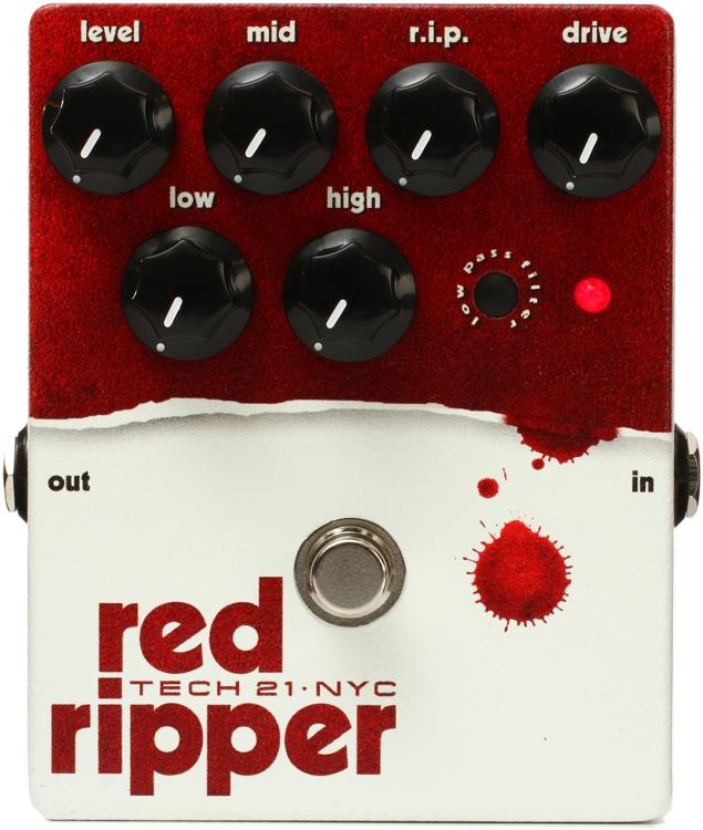 Tech 21 Red Ripper Bass Fuzz Pedal image 1