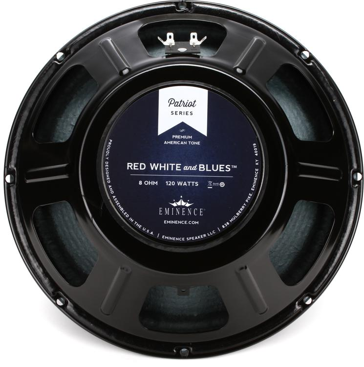 Eminence Red White and Blues Patriot Series 12