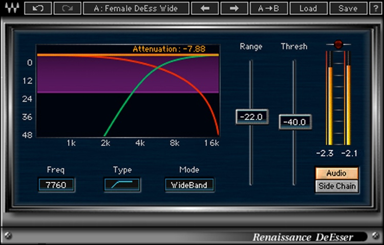Waves Renaissance DeEsser Plug-in image 1