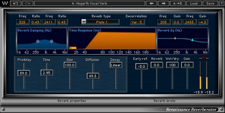 Waves Renaissance Reverb Plug-in image 1