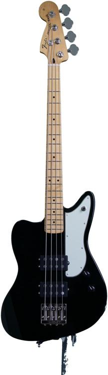 Fender Pawn Shop Reverse Jaguar Bass - Black image 1