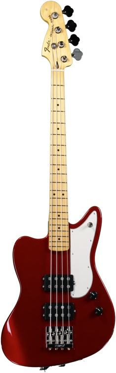 Fender Pawn Shop Reverse Jaguar Bass - Candy Apple Red image 1