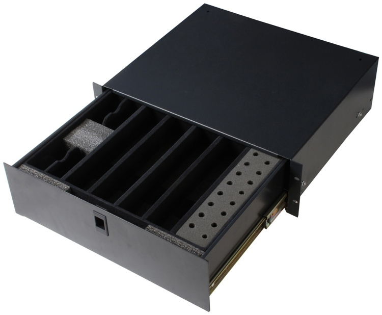 Gator GE-WIRELESSDRWR - Wireless Microphone Drawer; 3U image 1