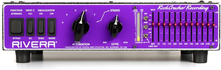 Rivera RockCrusher Recording Power Attenuator with 11-Band EQ Speaker Emulator image 1