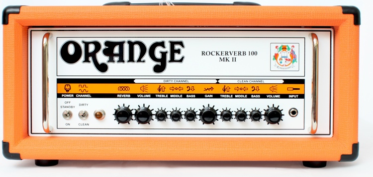 Orange Rockerverb 100 MKII - 100-Watt 2-Channel Tube Head Orange image 1