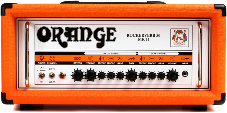 Orange Rockerverb 50 MKII - 50-Watt 2-Channel Tube Head Orange image 1