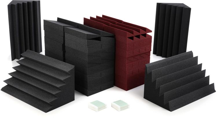 Auralex Alpha-DST Roominators Kit - Charcoal/Burgundy image 1