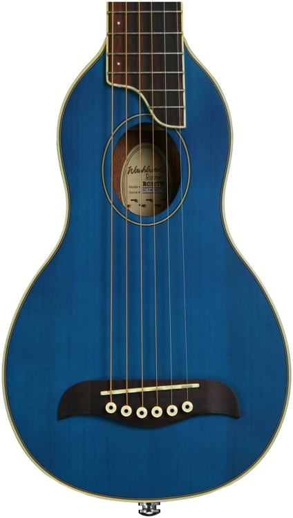 Washburn RO10 Rover Travel Guitar - Blue image 1