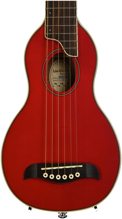 Washburn RO10 Rover Travel Guitar - Trans Red image 1