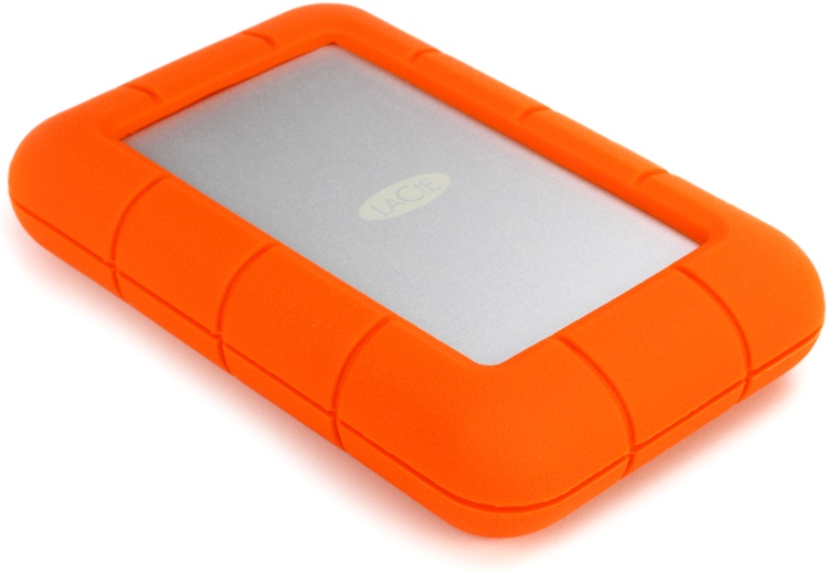 lacie rugged usb-c 1tb portable hard drive | sweetwater