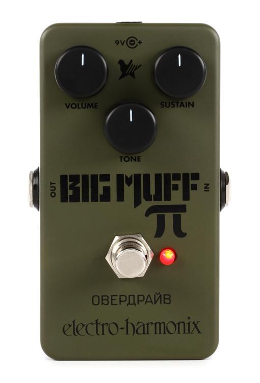 electro harmonix green russian big muff pi fuzz pedal sweetwater. Black Bedroom Furniture Sets. Home Design Ideas