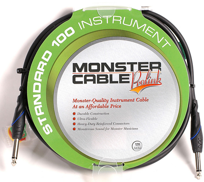 Monster 607223 - 12\' Standard 100 Instrument Cable image 1