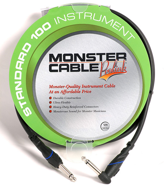 Monster 607225 - 12\' Standard 100 Instrument Cable image 1