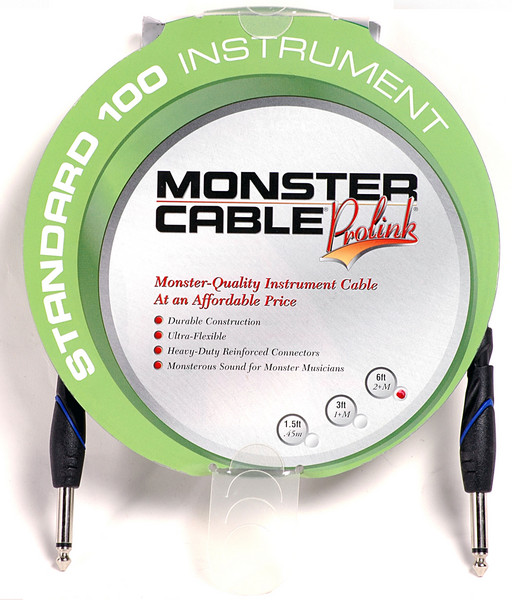 Monster 607222 - 6\' Standard 100 Instrument Cable image 1