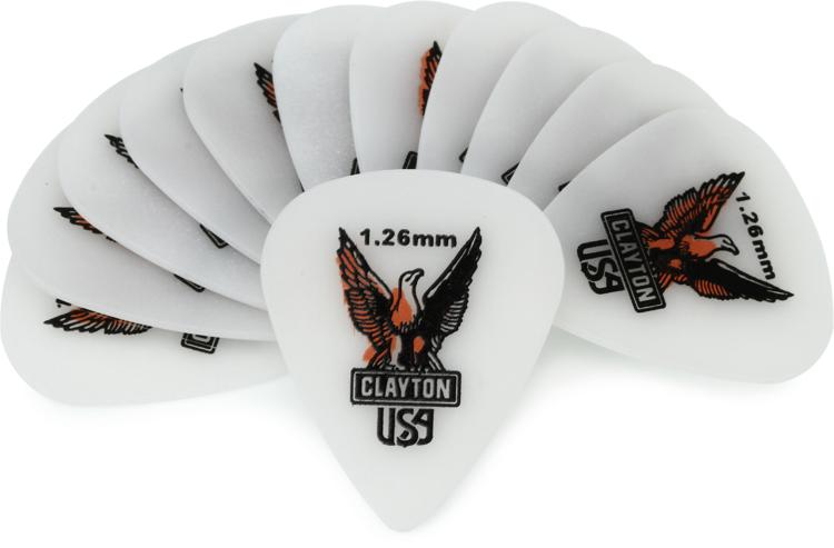 Clayton Acetal Standard Picks 12-pack 1.26mm image 1