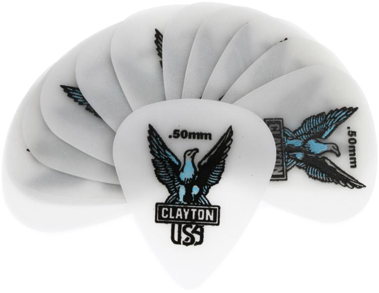 Clayton Acetal Standard Picks 12-pack .50mm image 1