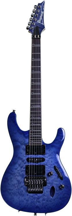 Ibanez S570DXQM - Bright Blue Burst image 1