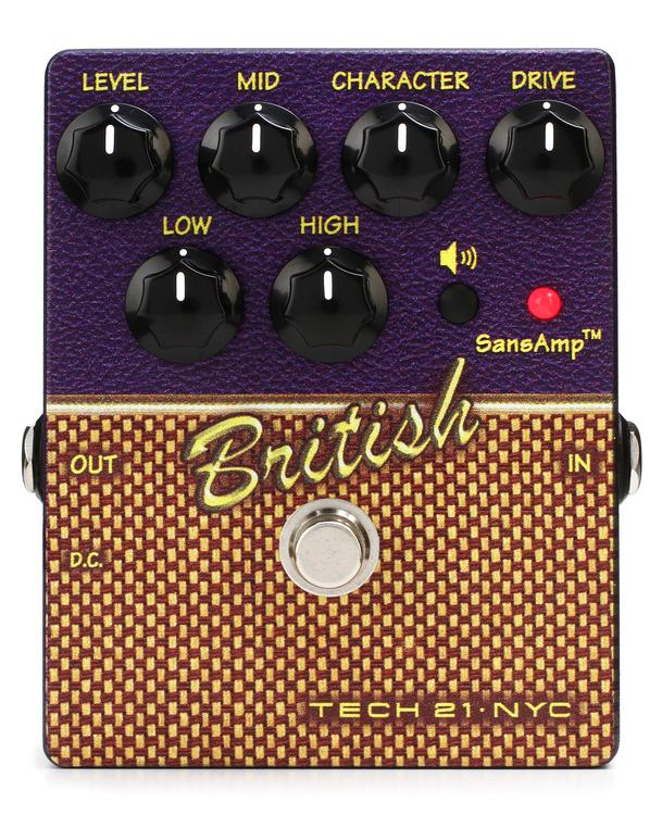 Tech 21 Character Series British V2 Overdrive Pedal image 1