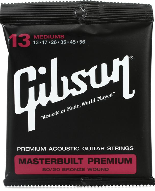 Gibson Accessories SAG-BRS13 Masterbuilt Premium 80/20 Bronze Medium Acoustic Guitar Strings image 1