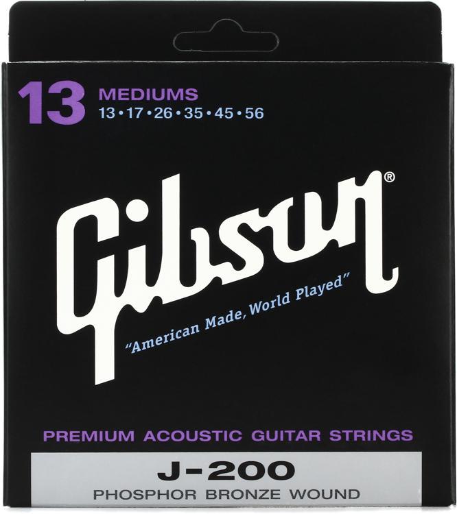 Gibson Accessories J-200 Phosphor Bronze Medium Acoustic Guitar Strings image 1