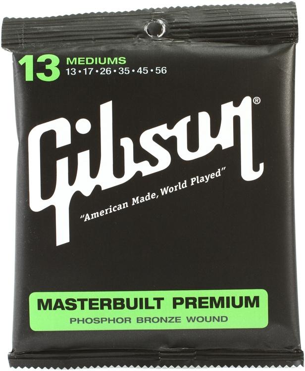 Gibson Accessories SAG-MB13 Masterbuilt Premium Phosphor Bronze Medium Acoustic Guitar Strings image 1
