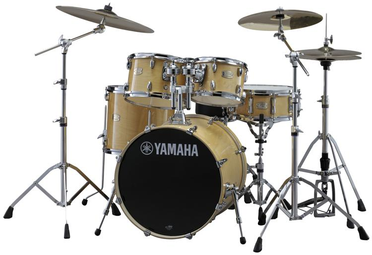 yamaha stage custom birch drum set natural wood sweetwater. Black Bedroom Furniture Sets. Home Design Ideas