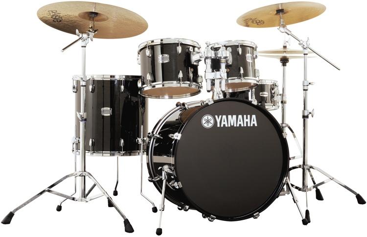 Yamaha Stage Custom Birch Drum Set Raven Black Sweetwater