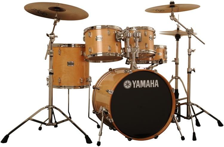 Yamaha Stage Custom Birch 5 Piece Drum Kit With Hardware Natural