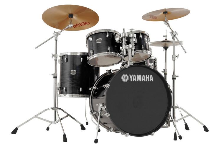 Yamaha Stage Custom 5-piece Drum Kit - Raven Black with Hardware image 1