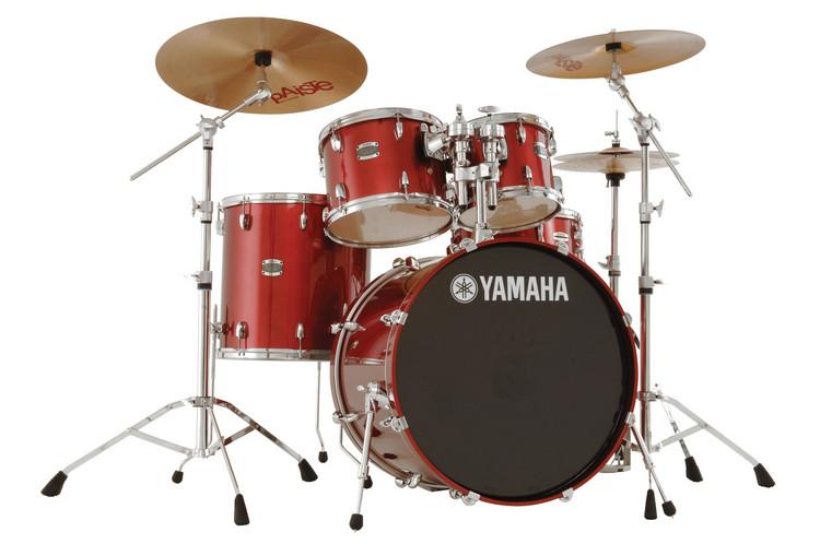 Yamaha Stage Custom 5-piece Drum Kit - Cranberry Red image 1