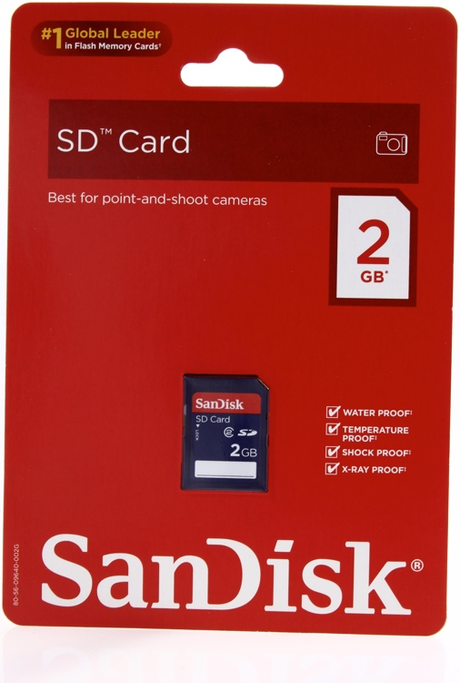 Sandisk SD Card - 2 GB image 1
