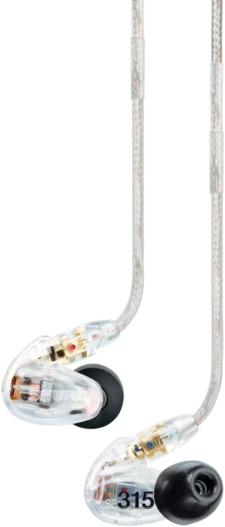 Shure SE315 Sound Isolating Earphones - Clear image 1