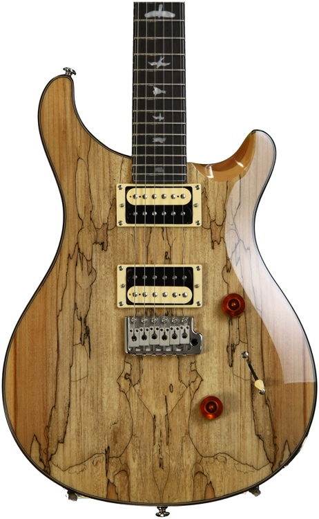 PRS SE Custom 24, Exclusive Finish - Spalted Maple, Natural image 1