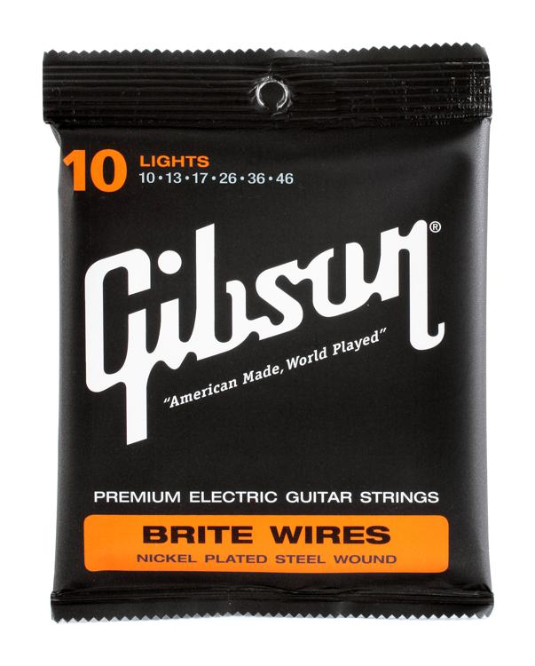 Gibson Accessories 700L Brite Wires Electric Strings - .010-.046 - Light image 1