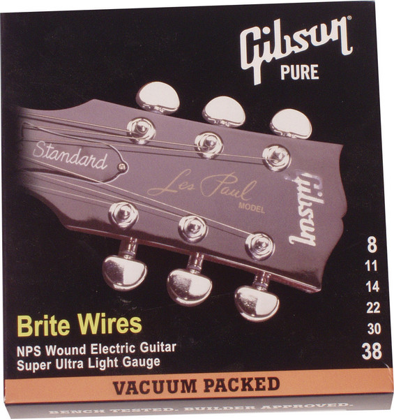 Gibson Accessories 700SUL Brite Wires Electric Strings - .008-.038 - Super Ultra Light image 1