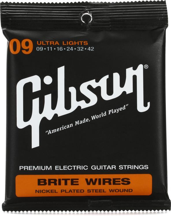Gibson Accessories 700UL Brite Wires Electric Strings - .009-.042 - Ultra Light image 1