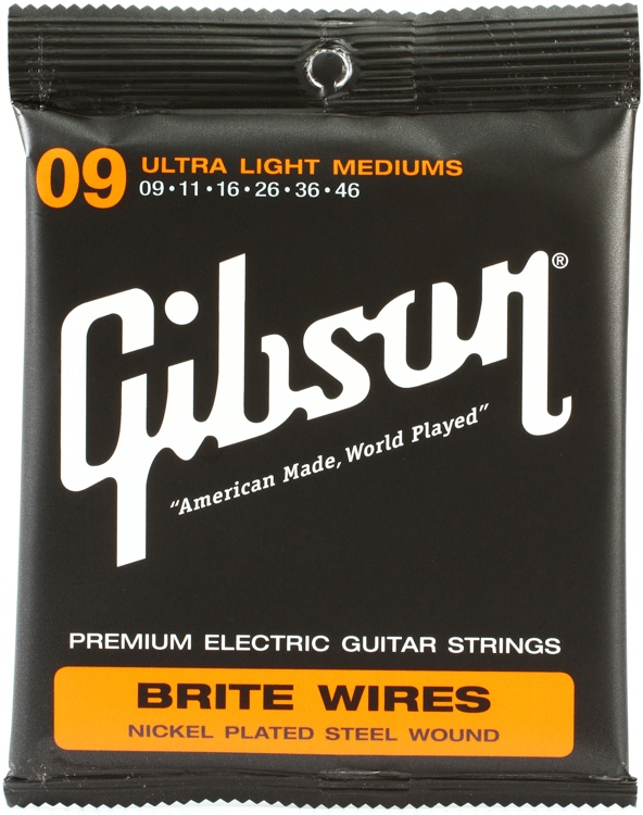 Gibson Accessories 700ULMC Brite Wires Electric Strings - .009-.046 - Ultra Light Med Cst image 1