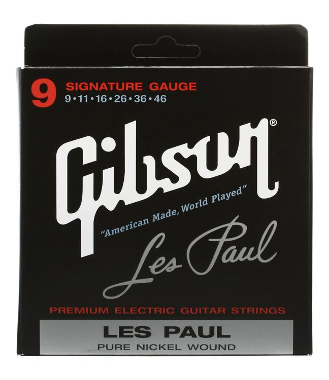 Gibson Accessories LPS Les Paul Signature Nickel Electric Strings - 0.009-0.046 image 1