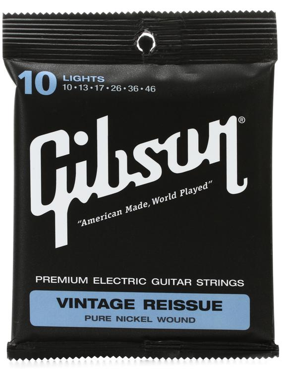 Gibson Accessories VR10 Vintage Reissue Electric Strings - .010-.046 - Light image 1