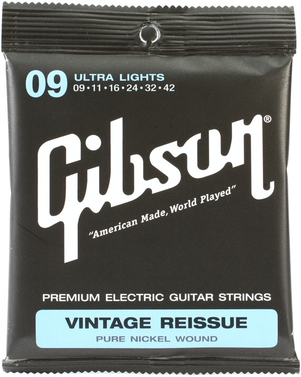 Gibson Accessories VR9 Vintage Reissue Electric Strings - .009-.042 - Ultra Light image 1