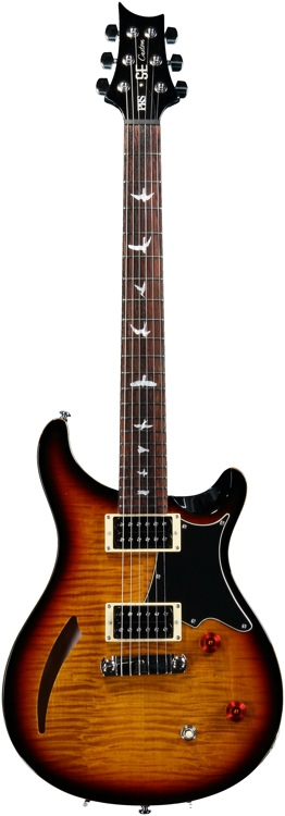 PRS SE Custom Semi-Hollow - Tri-Color Burst image 1