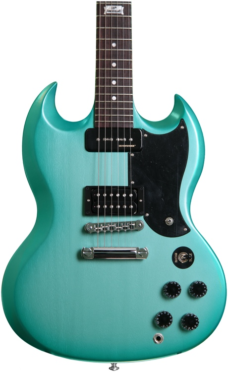 Gibson SG Futura - 2014, Inverness Green Fade Vintage Gloss, with Min-ETune image 1