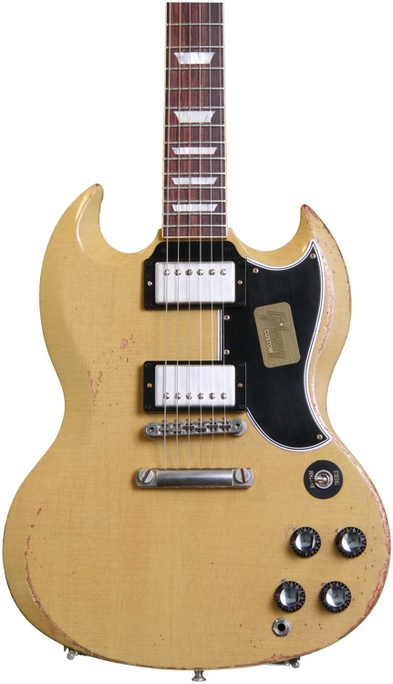 Gibson Custom SG Standard - Heavy Aged TV Yellow image 1