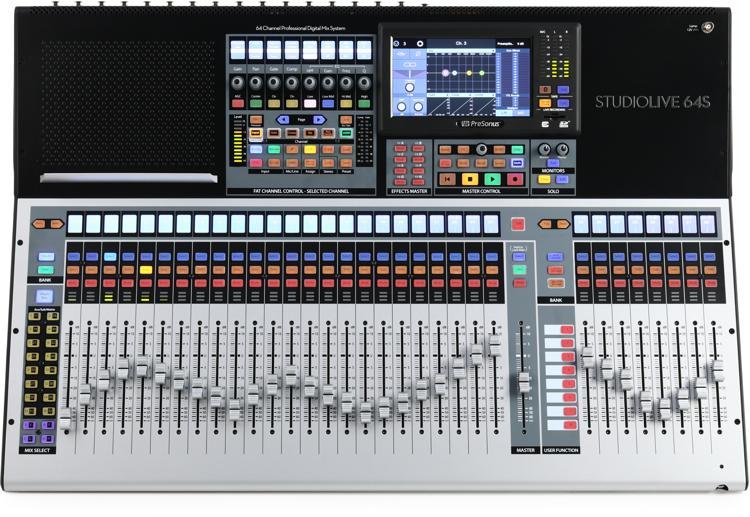 presonus studiolive 64s 64 channel digital mixer sweetwater. Black Bedroom Furniture Sets. Home Design Ideas