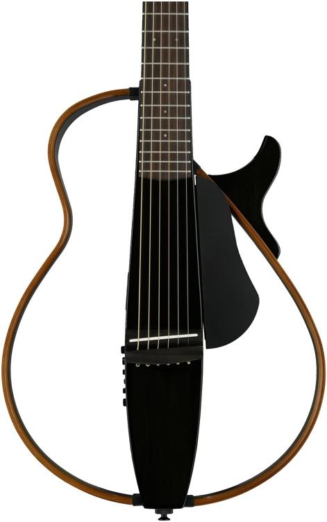 Yamaha slg200s silent guitar trans black sweetwater for Yamaha slg200s steel string silent guitar
