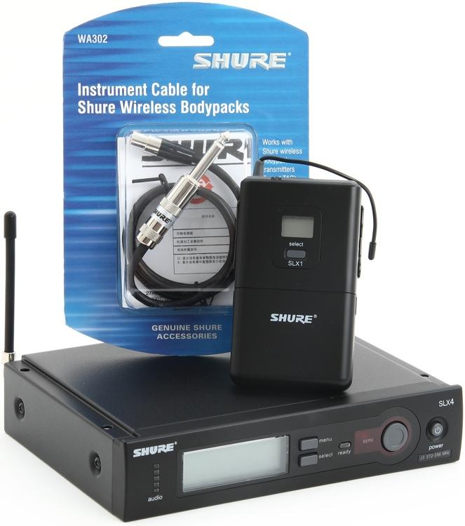 Shure SLX14 Instrument Wireless System - J3 Band, 572 - 596 MHz image 1