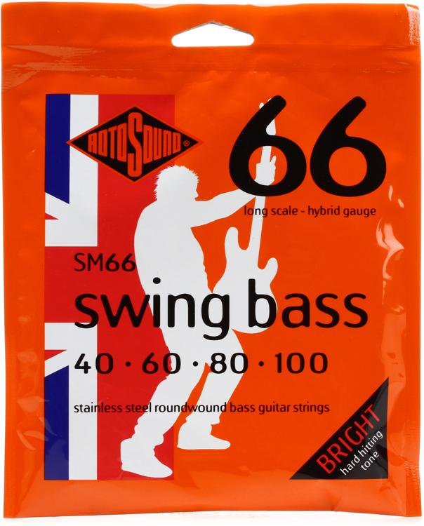 Rotosound SM66 Swing Bass 66 Stainless Steel Roundound Long Scale Bass Strings image 1