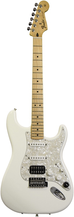 Fender Sweet-Mod Standard Fat Strat HSS - Arctic White, Maple Fret image 1