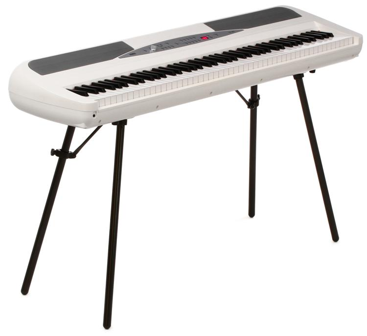 Korg SP-280 Digital Piano with Speakers - White image 1