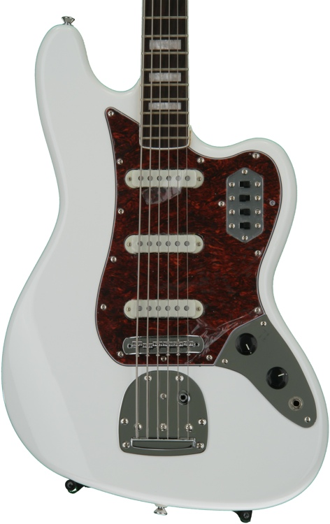 Squier Vintage Modified Bass VI - Olympic White image 1